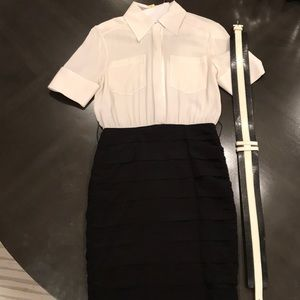Alice and Olivia two tone dress.